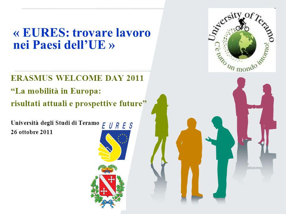 """« EURES: trovare lavoro nei Paesi dell'UE » ERASMUS WELCOME DAY 2011 """"La mobilità in Europa: risultati attuali e prospettive future"""" Università degli"""