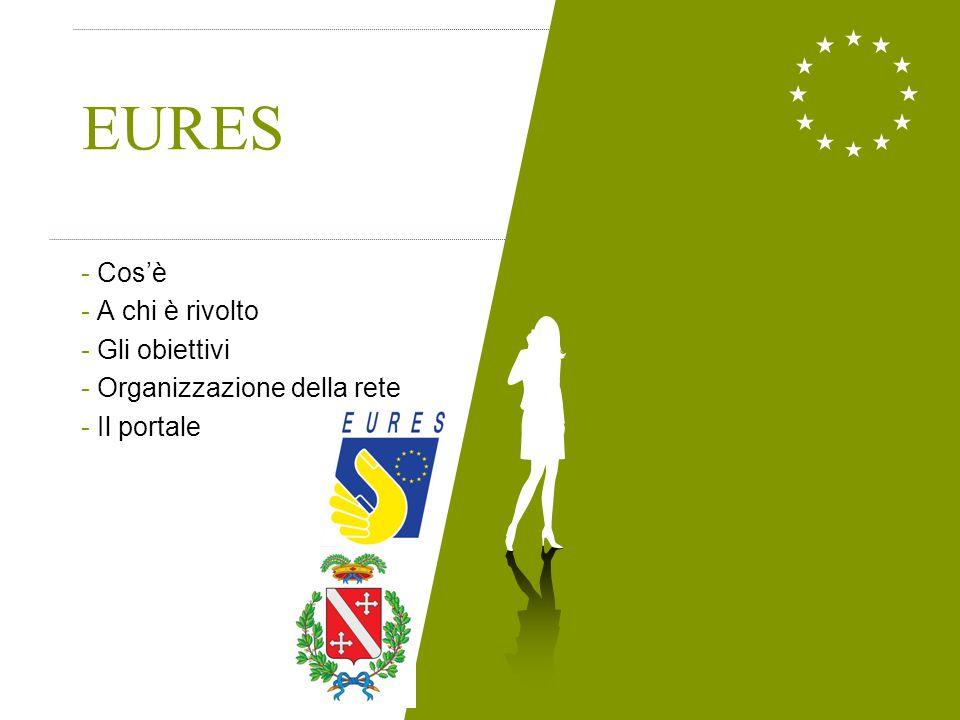Cos'è EURES (EURopean Employment Services) Servizi europei per l'occupazione è un servizio pubblico e gratuito di selezione del personale e di informazione, orientamento e consulenza nella ricerca dell'occupazione in Europa.