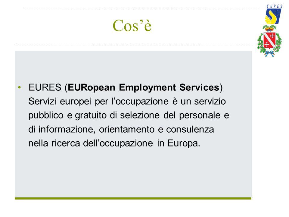 Cos'è EURES (EURopean Employment Services) Servizi europei per l'occupazione è un servizio pubblico e gratuito di selezione del personale e di informa