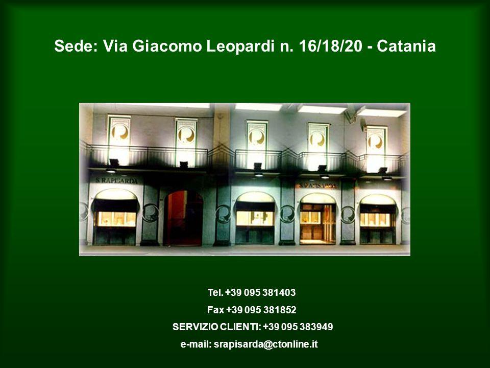 Sede: Via Giacomo Leopardi n. 16/18/20 - Catania Tel.