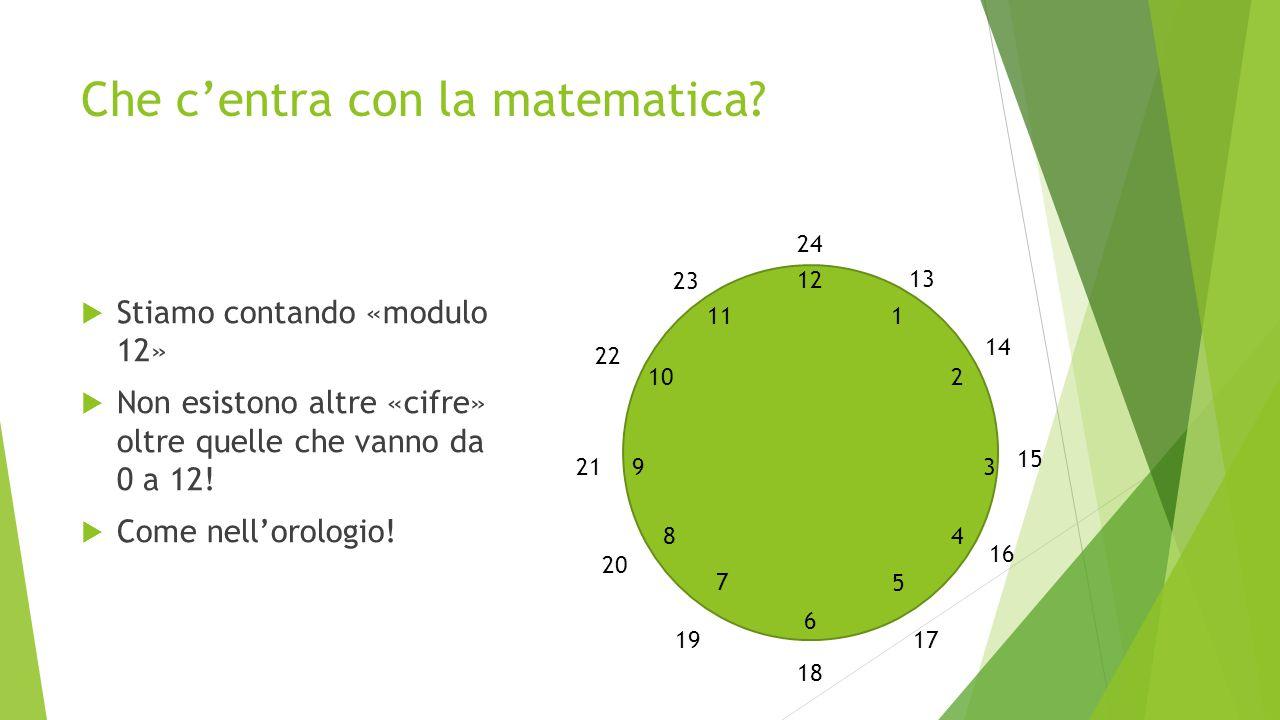 Che c'entra con la matematica.