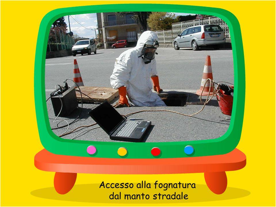 Accesso alla fognatura dal manto stradale