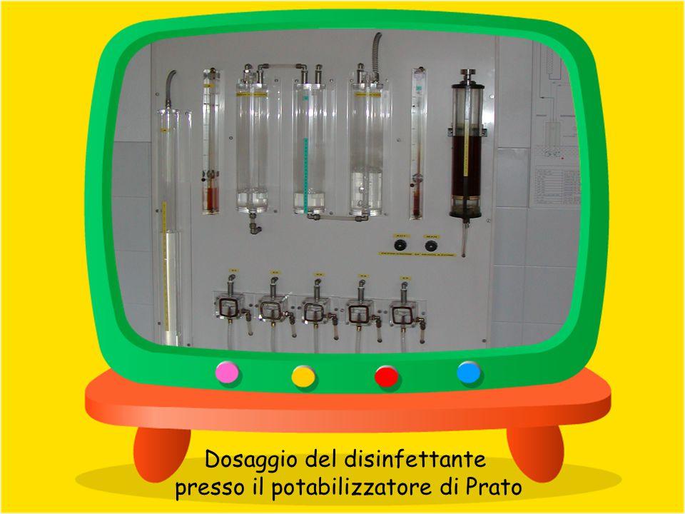 Dosaggio del disinfettante presso il potabilizzatore di Prato