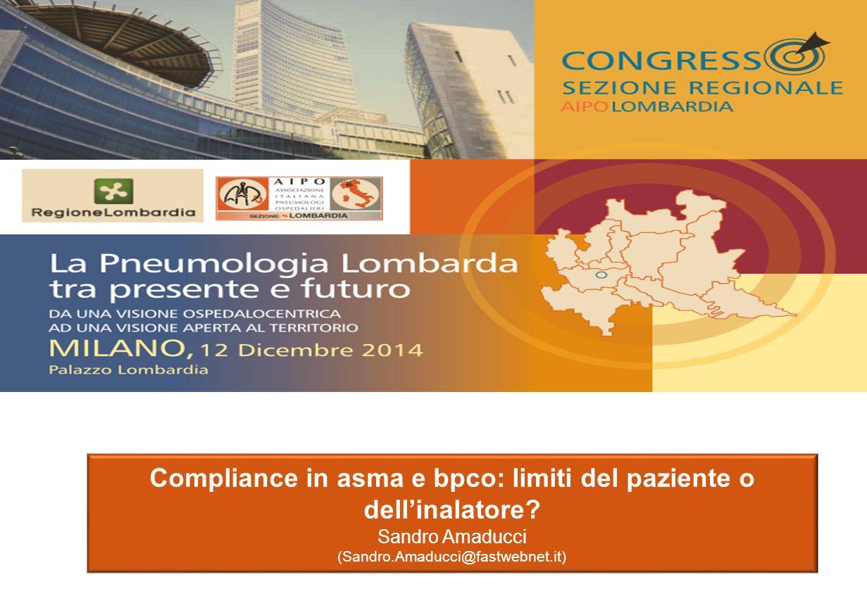 Compliance in asma e bpco: limiti del paziente o dell'inalatore.