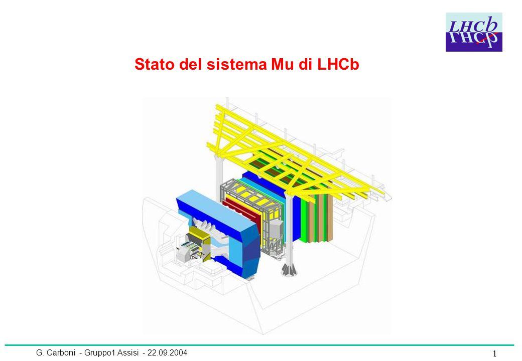 G. Carboni - Gruppo1 Assisi - 22.09.2004 1 Stato del sistema Mu di LHCb