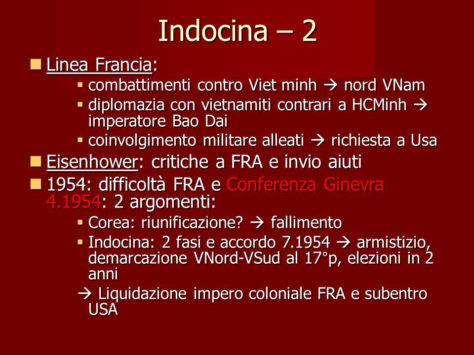 Indocina – 2 Linea Francia: Linea Francia:  combattimenti contro Viet minh  nord VNam  diplomazia con vietnamiti contrari a HCMinh  imperatore Bao