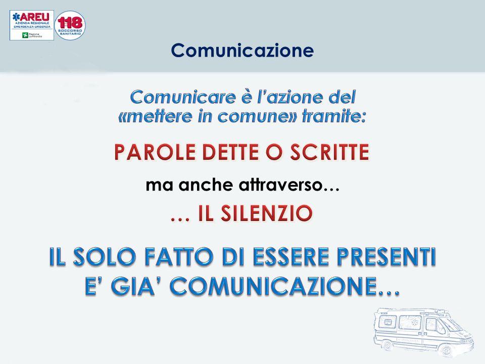 Comunicazione ma anche attraverso…