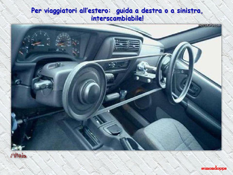 Per viaggiatori all'estero: guida a destra o a sinistra, interscambiabile!