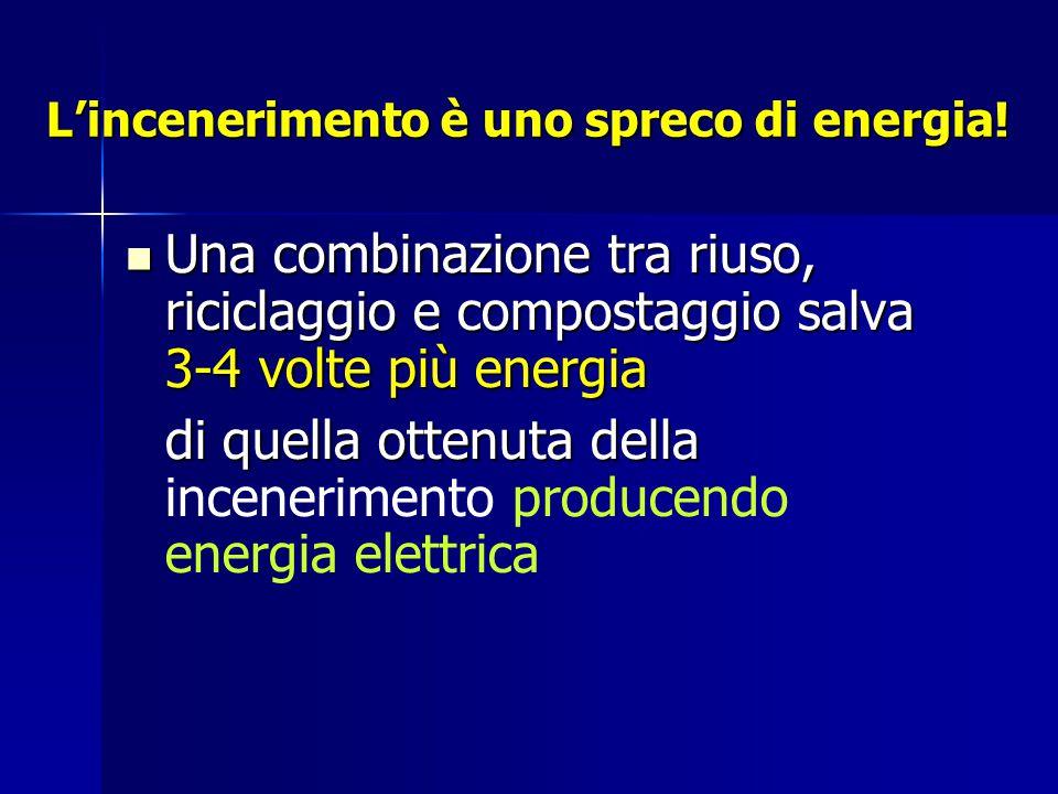 L'incenerimento è uno spreco di energia.