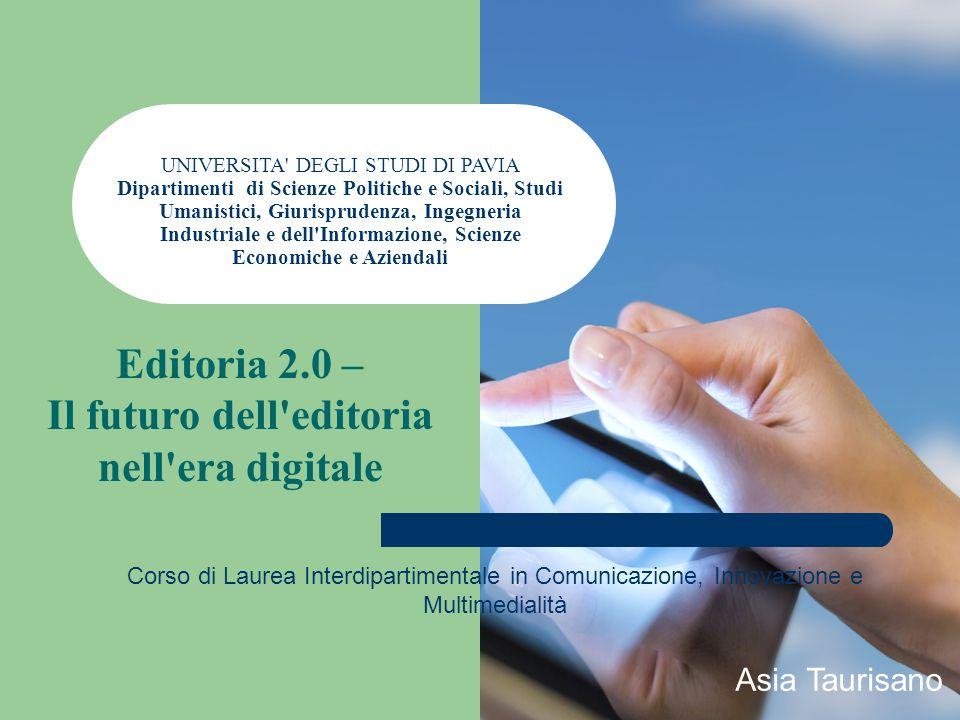 EDITORIA 2.0 EbookSelf-Publishing Esperienze utente