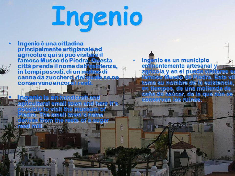 Ingenio Ingenio è una cittadina principalmente artigianale ed agricola e qui si può visitare il famoso Museo de Piedra. Questa città prende il nome da