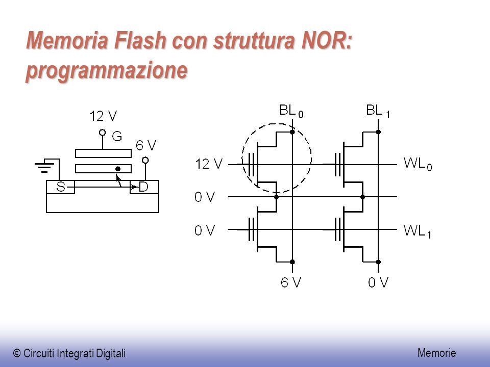 © Circuiti Integrati Digitali Memorie Memoria Flash con struttura NOR: programmazione
