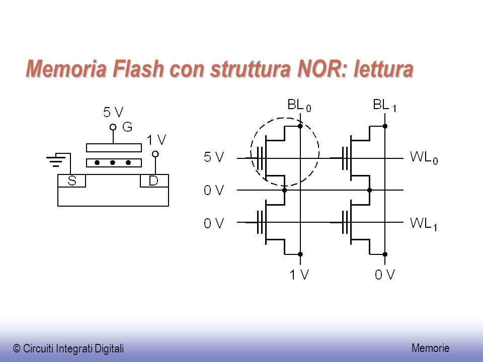 © Circuiti Integrati Digitali Memorie Memoria Flash con struttura NOR: lettura