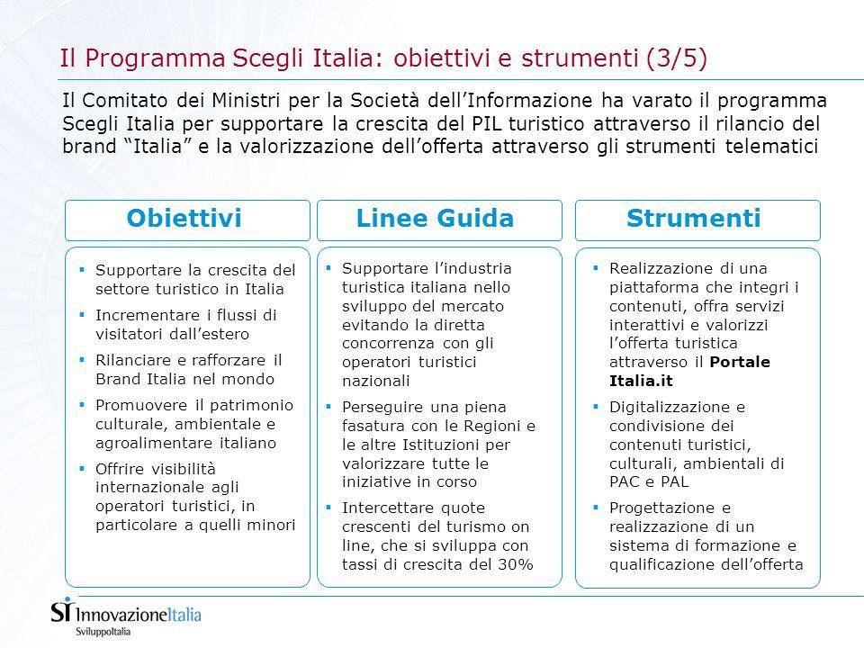  Realizzazione di una piattaforma che integri i contenuti, offra servizi interattivi e valorizzi l'offerta turistica attraverso il Portale Italia.it