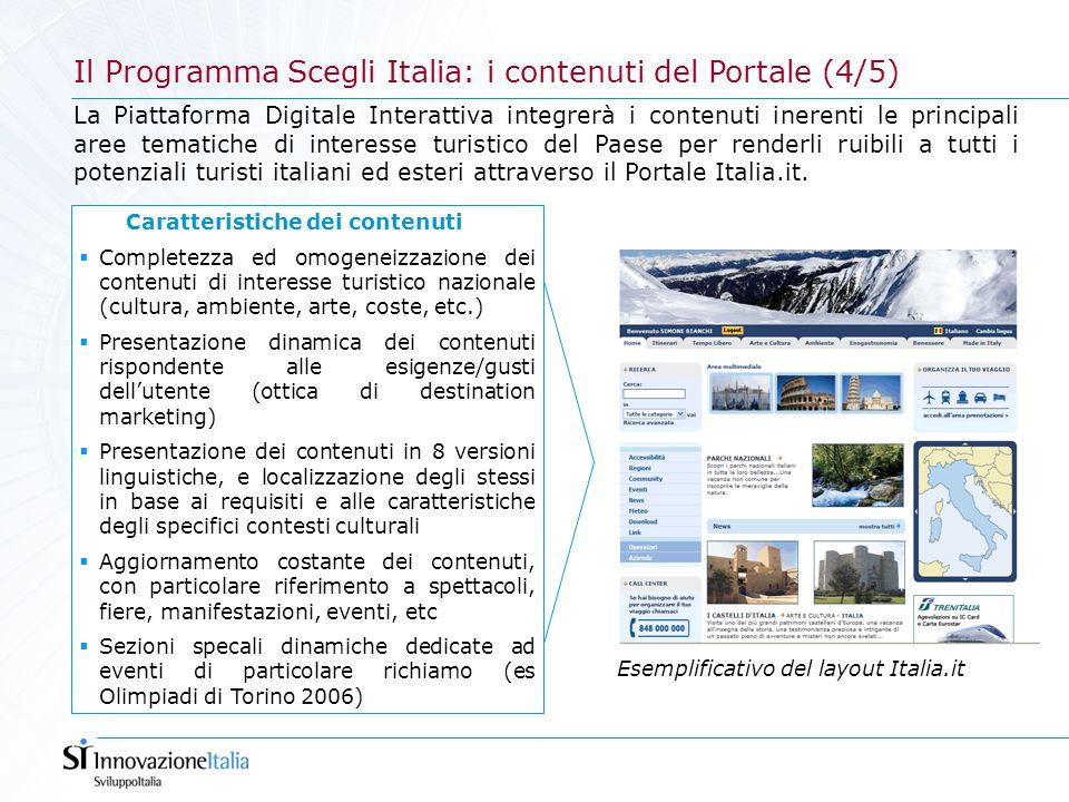La Piattaforma Digitale Interattiva integrerà i contenuti inerenti le principali aree tematiche di interesse turistico del Paese per renderli ruibili