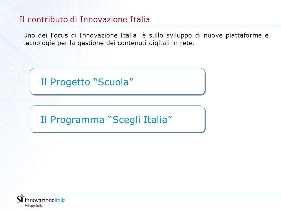 Il contributo di Innovazione Italia Uno dei Focus di Innovazione Italia è sullo sviluppo di nuove piattaforme e tecnologie per la gestione dei contenu