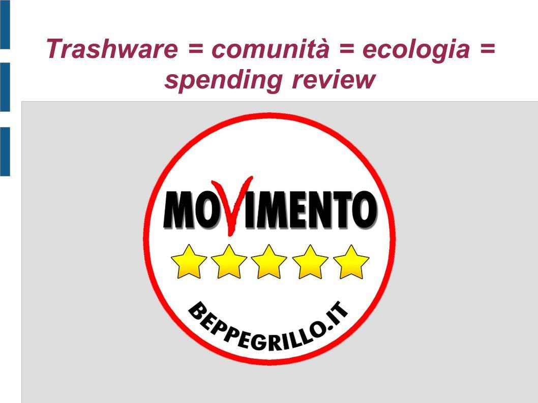Trashware = comunità = ecologia = spending review