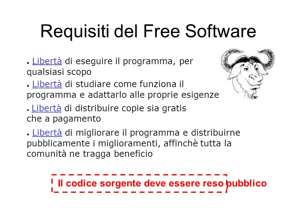 Bilanci e movimenti Il 67% dei fondi operativi della Free Software Foundation deriva da donazioni private.