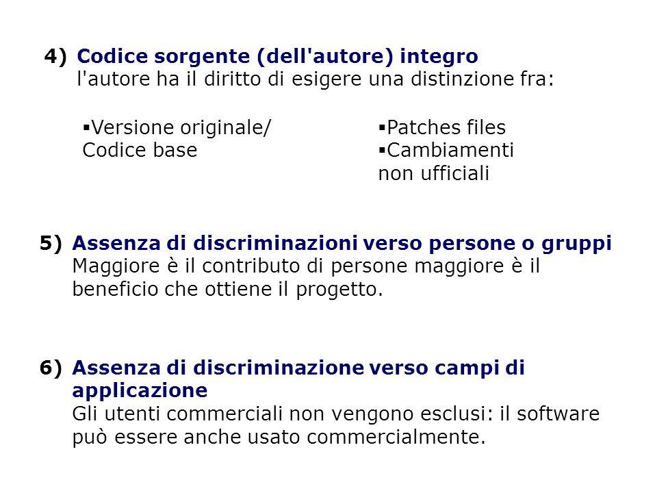 7)Distribuzione della licenza I diritti allegati al programma devono applicarsi a tutti coloro a cui viene ridistribuito il programma, senza la necessità di applicare una licenza supplementare per queste parti.