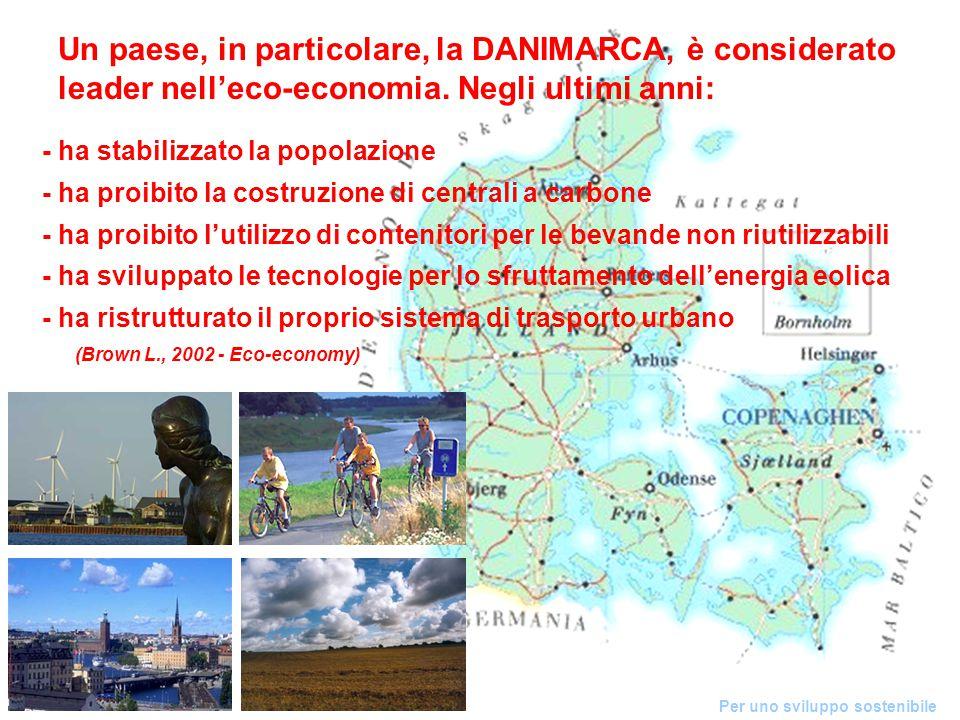 Un paese, in particolare, la DANIMARCA, è considerato leader nell'eco-economia.