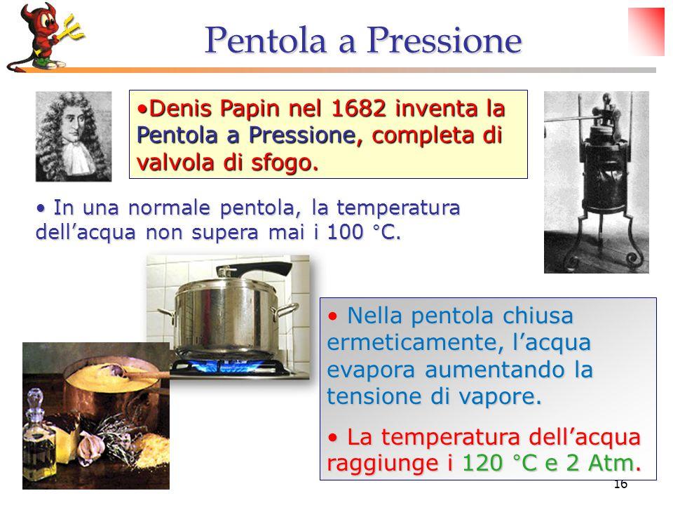 © Dario Bressanini16 Denis Papin nel 1682 inventa la Pentola a Pressione, completa di valvola di sfogo.Denis Papin nel 1682 inventa la Pentola a Pressione, completa di valvola di sfogo.