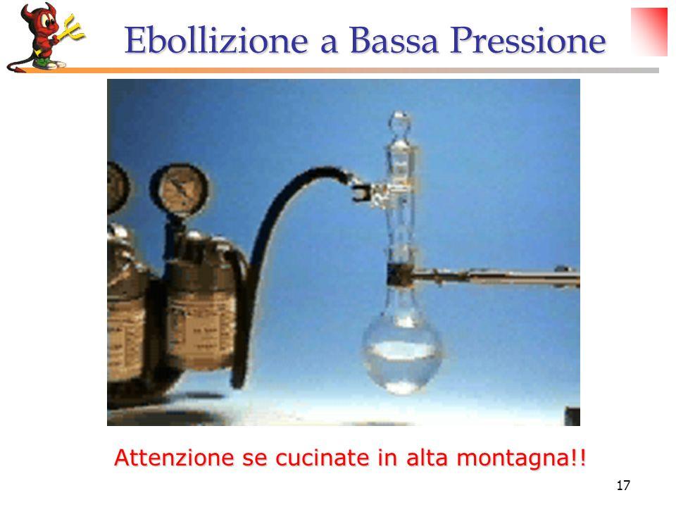 17 Ebollizione a Bassa Pressione Attenzione se cucinate in alta montagna!!