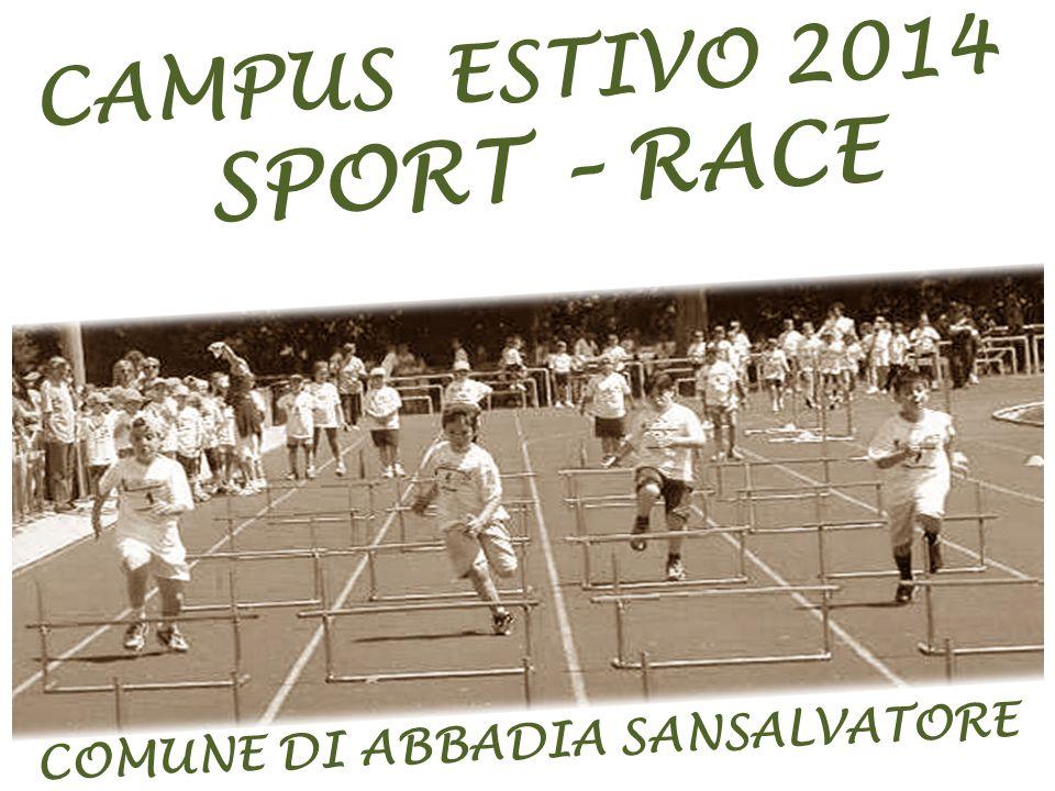 CAMPUS ESTIVO 2014 SPORT – RACE COMUNE DI ABBADIA SANSALVATORE