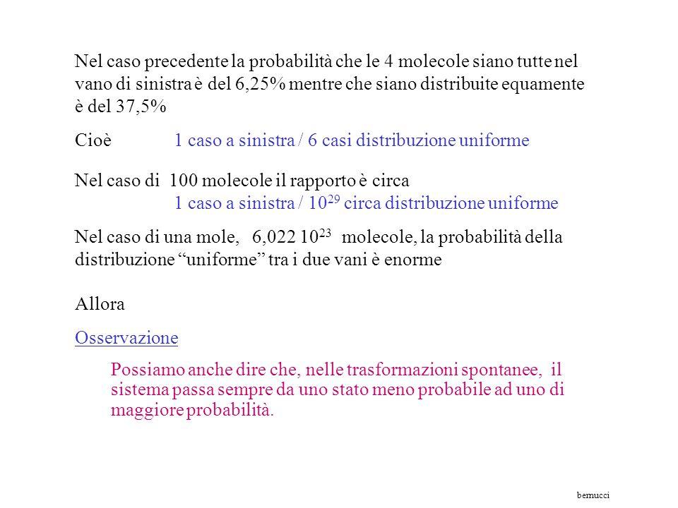 5°– DDDD molteplicità W = 1 P = 1/16 = 6,25% 1°- SSSSmolteplicità W = 1 P = 1/16 = 6,25% 2°– SSSDmolteplicità W = 4 P = 4/16 = 25% 3°– SSDDmolteplicit