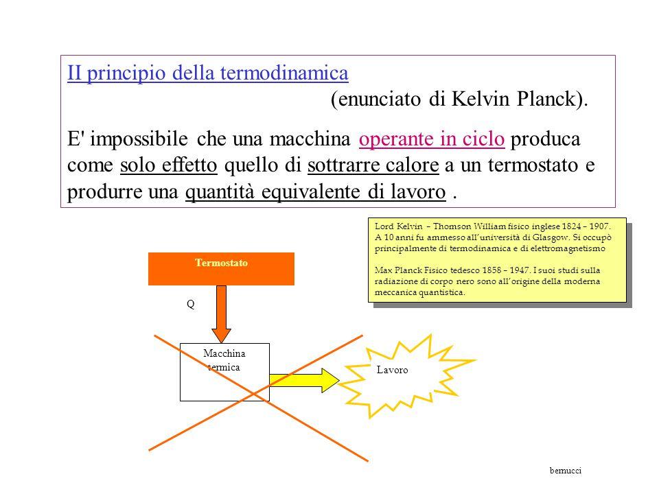 Calore 1 Lavoro Calore 2 L'energia meccanica e il lavoro si possono trasformare completamente in energia termica; la trasformazione inversa di energia