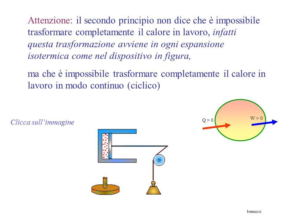II principio della termodinamica (enunciato di Kelvin Planck). E' impossibile che una macchina operante in ciclo produca come solo effetto quello di s