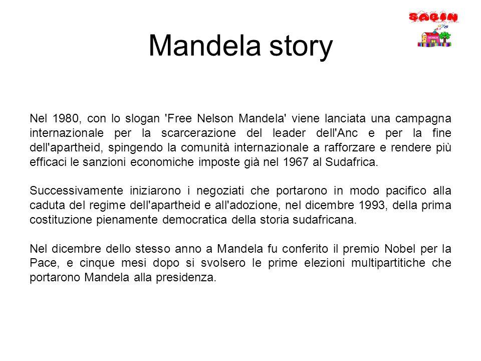 Nel 1980, con lo slogan 'Free Nelson Mandela' viene lanciata una campagna internazionale per la scarcerazione del leader dell'Anc e per la fine dell'a