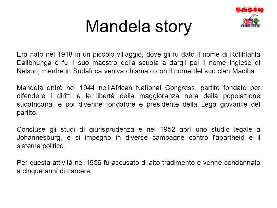 Mandela story Era nato nel 1918 in un piccolo villaggio, dove gli fu dato il nome di Rolihlahla Dalibhunga e fu il suo maestro della scuola a dargli p
