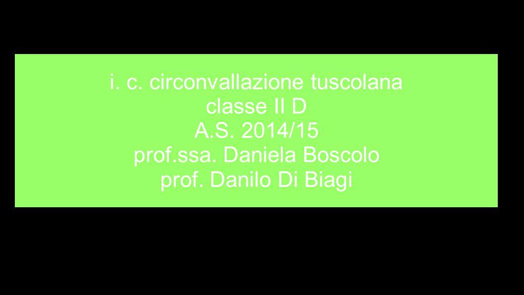 i.c. circonvallazione tuscolana classe II D A.S. 2014/15 prof.ssa.