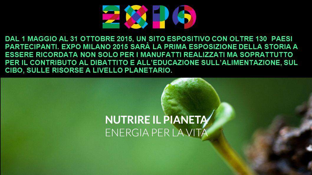 DAL 1 MAGGIO AL 31 OTTOBRE 2015, UN SITO ESPOSITIVO CON OLTRE 130 PAESI PARTECIPANTI.