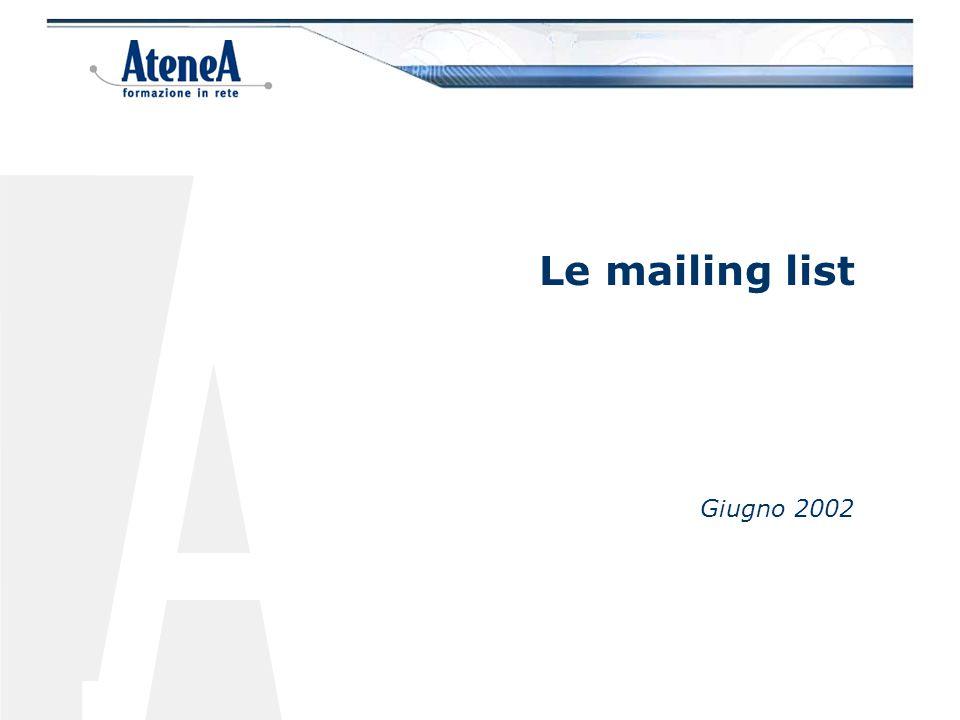 Le mailing list Giugno 2002