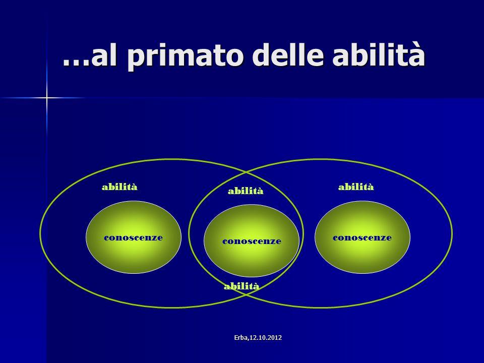 …al primato delle abilità conoscenze abilità Erba,12.10.2012
