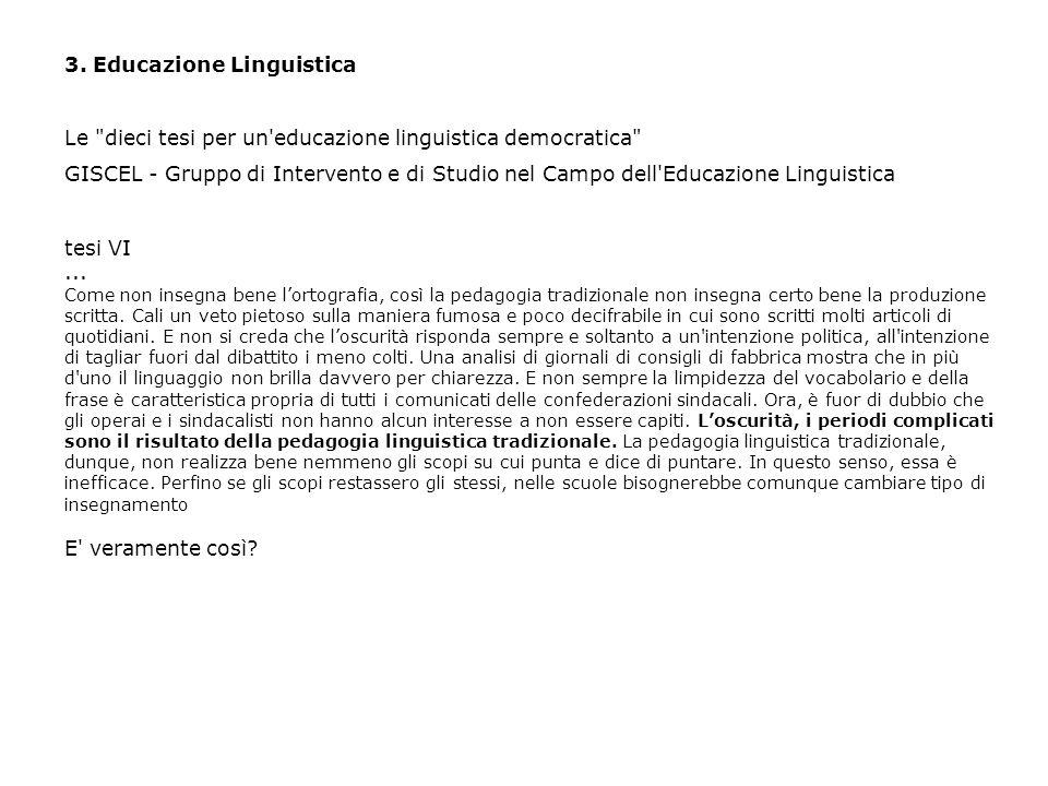 3. Educazione Linguistica Le