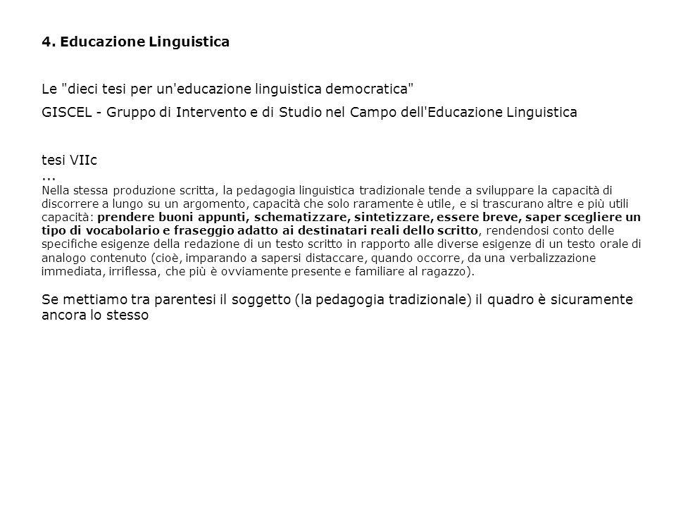 4. Educazione Linguistica Le