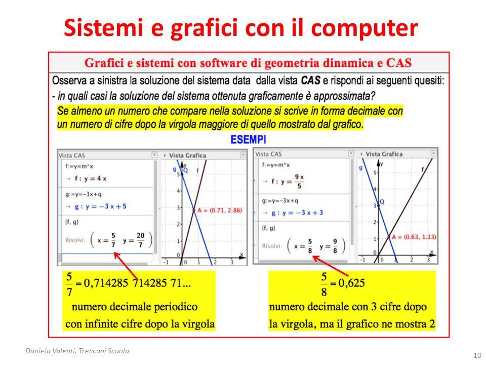 Sistemi e grafici con il computer Daniela Valenti, Treccani Scuola 11