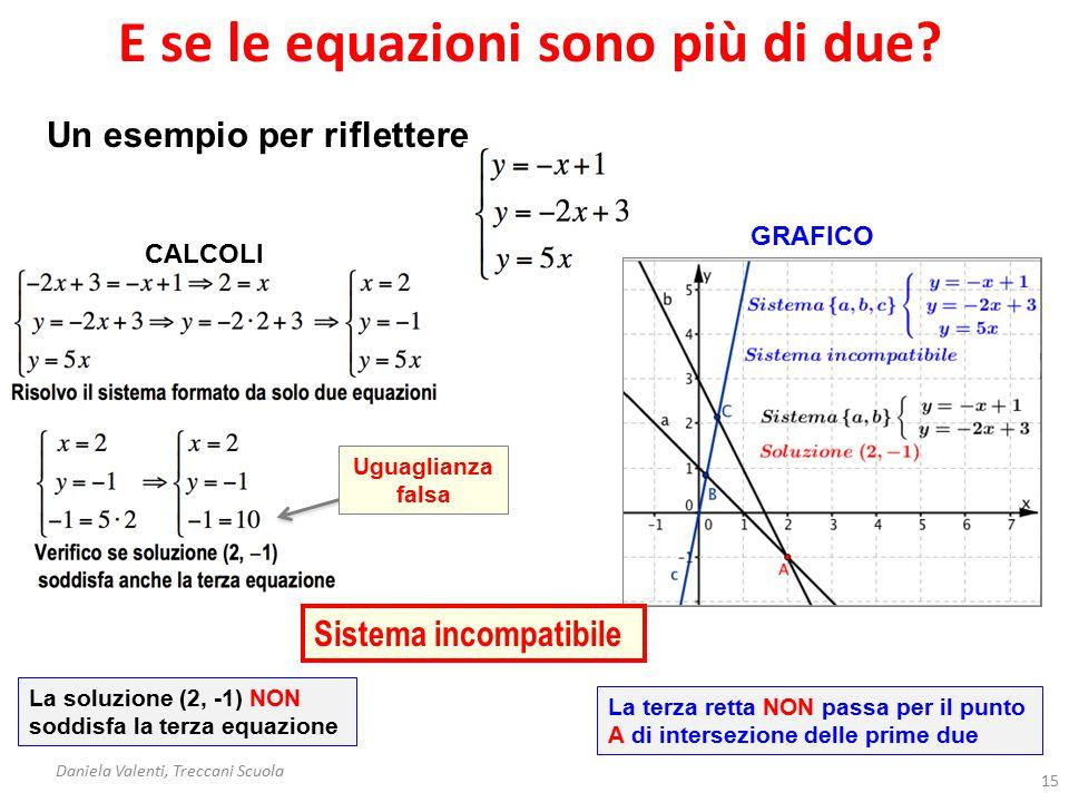 E se le equazioni sono più di due.