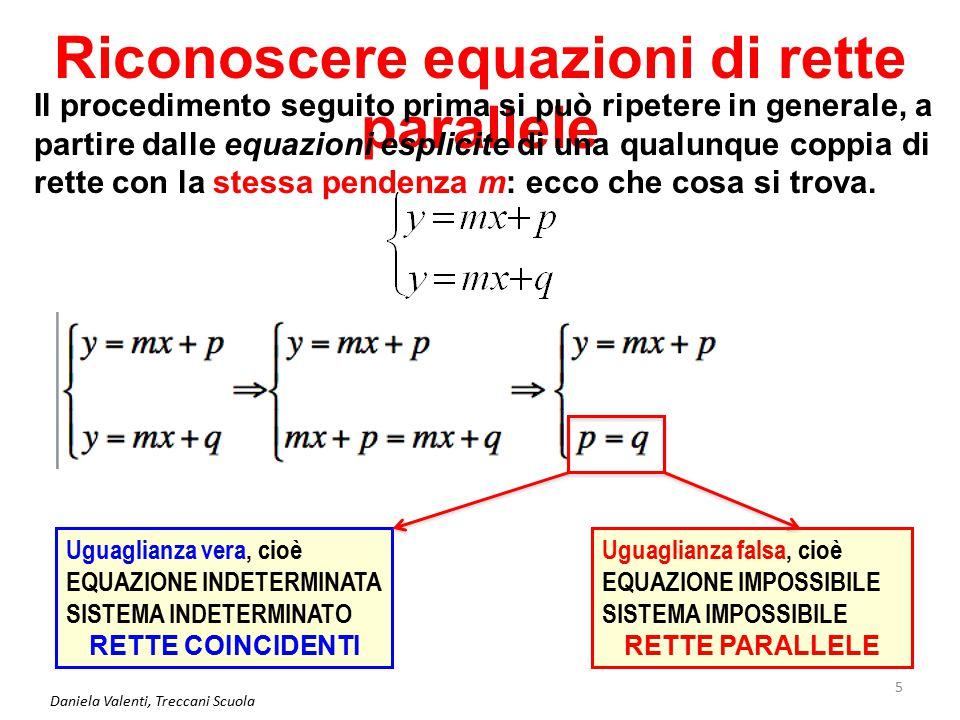 Daniela Valenti, Treccani Scuola 6 Riconoscere equazioni di rette parallele E se le rette sono scritte in forma implicita.