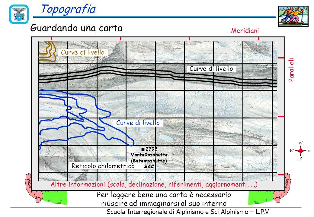 Scuola Interregionale di Alpinismo e Sci Alpinismo – L.P.V. Le Carte topografiche sono sempre realizzate in modo da presentare il Nord (settentrione,