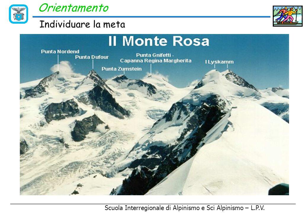 Scuola Interregionale di Alpinismo e Sci Alpinismo – L.P.V. Individuare la meta Orientamento