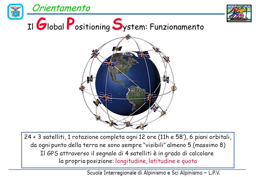 Scuola Interregionale di Alpinismo e Sci Alpinismo – L.P.V. Orientamento Il G lobal P ositioning S ystem Strumento basato sulla trasmissione satellita
