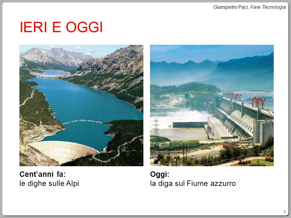 3 Giampietro Paci, Fare Tecnologia IERI E OGGI Cent'anni fa: le dighe sulle Alpi Oggi: la diga sul Fiume azzurro