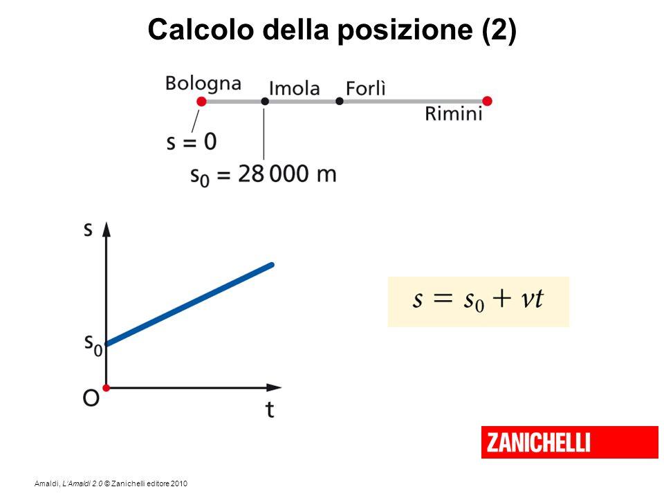 Amaldi, L'Amaldi 2.0 © Zanichelli editore 2010 Calcolo della posizione (2)