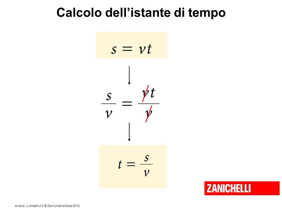 Amaldi, L'Amaldi 2.0 © Zanichelli editore 2010 Calcolo dell'istante di tempo