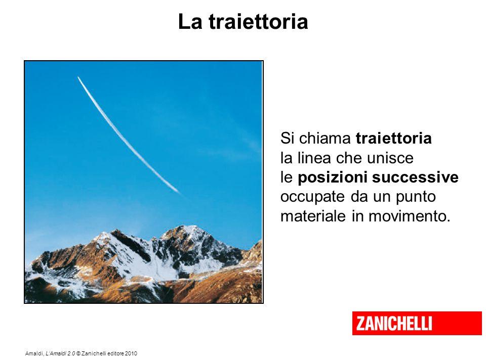 Amaldi, L'Amaldi 2.0 © Zanichelli editore 2010 La traiettoria Si chiama traiettoria la linea che unisce le posizioni successive occupate da un punto m