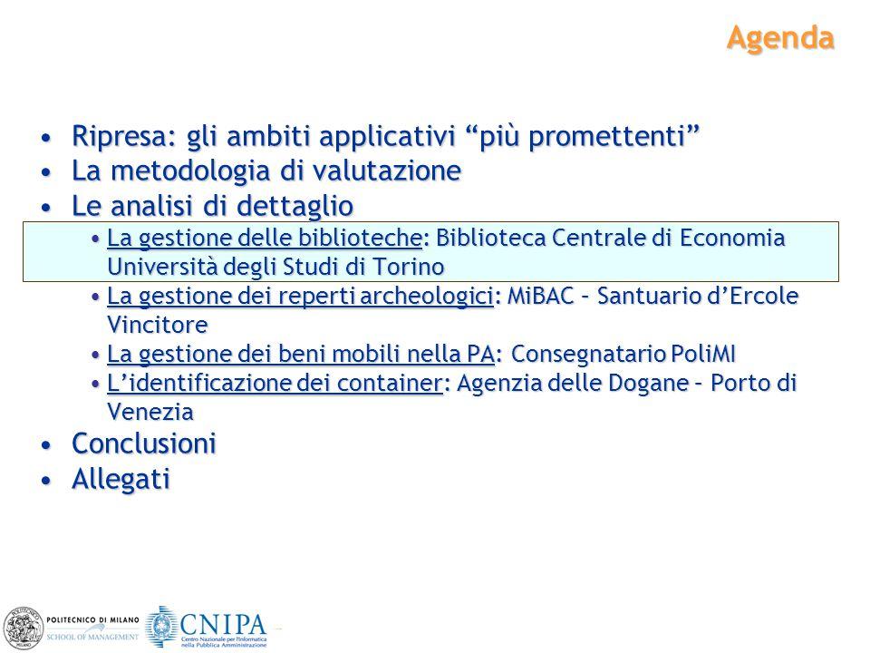 """11 Agenda Ripresa: gli ambiti applicativi """"più promettenti""""Ripresa: gli ambiti applicativi """"più promettenti"""" La metodologia di valutazioneLa metodolog"""