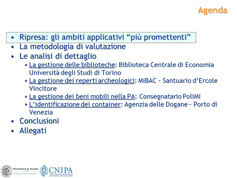"""2 Agenda Ripresa: gli ambiti applicativi """"più promettenti""""Ripresa: gli ambiti applicativi """"più promettenti"""" La metodologia di valutazioneLa metodologi"""